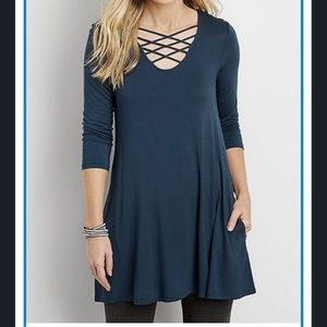 Maurices 24/7 tunic tee with pockets